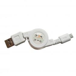 """""""Bottari"""" Cab-Micro USB laidas - baltas (0,80 m.)"""