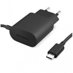 """""""Microsoft"""" sieninis įkroviklis su laidu USB Type-C (AC-100E) - juodas"""