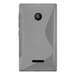 Kieto silikono (TPU) dėklas - skaidrus (Lumia 435)