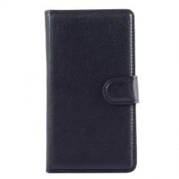 """""""Litchi"""" atverčiamas dėklas - juodas (Lumia 535)"""
