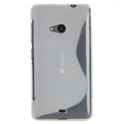 Kieto silikono (TPU) dėklas - skaidrus (Lumia 535)