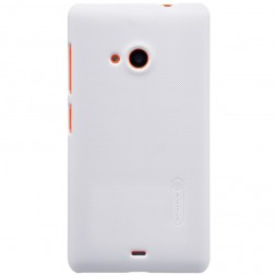 """""""Nillkin"""" Frosted Shield dėklas - baltas + apsauginė ekrano plėvelė (Lumia 535)"""
