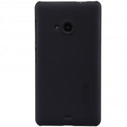 """""""Nillkin"""" Frosted Shield dėklas - juodas + apsauginė ekrano plėvelė (Lumia 535)"""