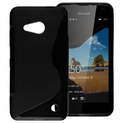 Kieto silikono (TPU) dėklas - juodas (Lumia 550)