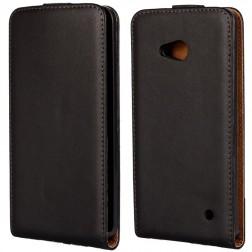 Klasikinis atverčiamas dėklas - juodas (Lumia 640)