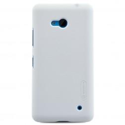 """""""Nillkin"""" Frosted Shield dėklas - baltas + apsauginė ekrano plėvelė (Lumia 640)"""