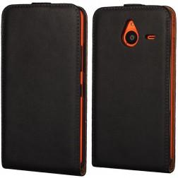 Klasikinis atverčiamas dėklas - juodas (Lumia 640 XL)