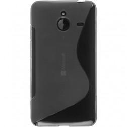 Kieto silikono (TPU) dėklas - skaidrus, pilkas (Lumia 640 XL)