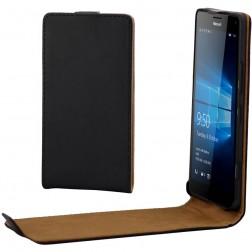 Klasikinis atverčiamas dėklas - juodas (Lumia 950)
