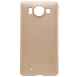 """""""Nillkin"""" Frosted Shield dėklas - auksinis + apsauginė ekrano plėvelė (Lumia 950)"""