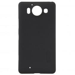 """""""Nillkin"""" Frosted Shield dėklas - juodas + apsauginė ekrano plėvelė (Lumia 950)"""