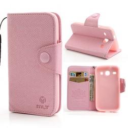 """""""MLT"""" atverčiamas dėklas - rožinis (Galaxy Core)"""