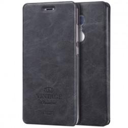 """""""Mofi"""" Vintage atverčiamas dėklas - juodas (Redmi Note 4)"""