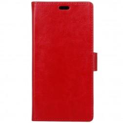 Atverčiamas dėklas, knygutė - raudonas (Moto G 5 kartos)