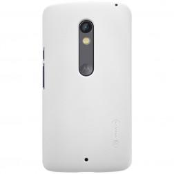 """""""Nillkin"""" Frosted Shield dėklas - baltas + apsauginė ekrano plėvelė (Moto X Play)"""