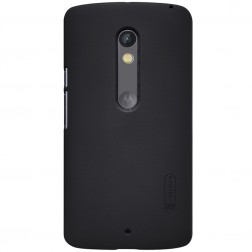 """""""Nillkin"""" Frosted Shield dėklas - juodas + apsauginė ekrano plėvelė (Moto X Play)"""