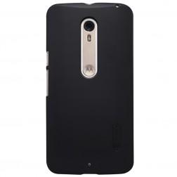 """""""Nillkin"""" Frosted Shield dėklas - juodas + apsauginė ekrano plėvelė (Moto X Style)"""