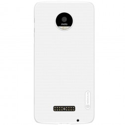 """""""Nillkin"""" Frosted Shield dėklas - baltas + apsauginė ekrano plėvelė (Moto Z)"""