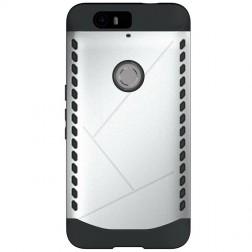 Sustiprintos apsaugos dėklas - sidabrinis (Nexus 6P)