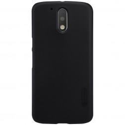 """""""Nillkin"""" Frosted Shield dėklas - juodas + apsauginė ekrano plėvelė (Moto G4 / Moto G4 Plus)"""