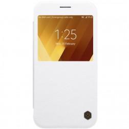 """""""Nillkin"""" Qin atverčiamas dėklas - baltas (Galaxy A3 2017)"""