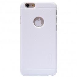 """""""Nillkin"""" Frosted Shield dėklas - baltas + apsauginė ekrano plėvelė (iPhone 6 / 6s)"""