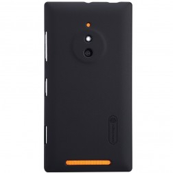 """""""Nillkin"""" Frosted Shield dėklas - juodas + apsauginė ekrano plėvelė (Lumia 830)"""