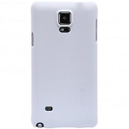 """""""Nillkin"""" Frosted Shield dėklas - baltas + apsauginė ekrano plėvelė (Galaxy Note 4)"""