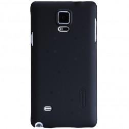 """""""Nillkin"""" Frosted Shield dėklas - juodas + apsauginė ekrano plėvelė (Galaxy Note 4)"""