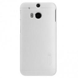 """""""Nillkin"""" Frosted Shield dėklas - baltas + apsauginė ekrano plėvelė (One M8 / One M8s)"""