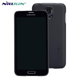 """""""Nillkin"""" Super Frosted dėklas - juodas + apsauginė ekrano plėvelė (Galaxy S5 / S5 Neo)"""
