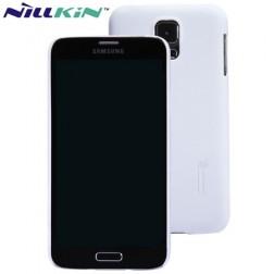 """""""Nillkin"""" Super Frosted dėklas - baltas + apsauginė ekrano plėvelė (Galaxy S5 / S5 Neo)"""