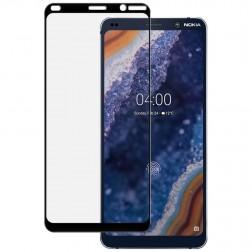 """""""Imak"""" Tempered Glass pilnai dengiantis apsauginis ekrano stiklas 0.2 mm - juodas (Nokia 9 PureView)"""