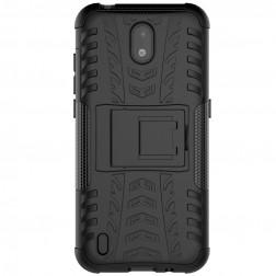 """""""Kickstand"""" kieto silikono (TPU) dėklas - juodas (Nokia 1.3)"""