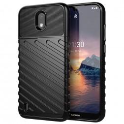 """""""Twill"""" kieto silikono (TPU) dėklas - juodas (Nokia 1.3)"""