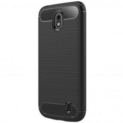"""""""Carbon"""" kieto silikono (TPU) dėklas - juodas (Nokia 1)"""