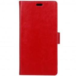 Atverčiamas dėklas, knygutė - raudonas (Nokia 1)
