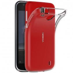 Kieto silikono (TPU) dėklas - skaidrus (Nokia 1)