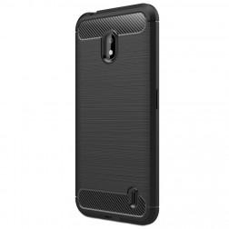 """""""Carbon"""" kieto silikono (TPU) dėklas - juodas (Nokia 2.2)"""