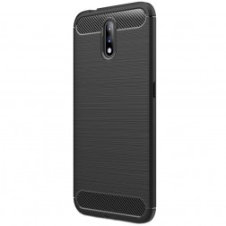 """""""Carbon"""" kieto silikono (TPU) dėklas - juodas (Nokia 2.3)"""