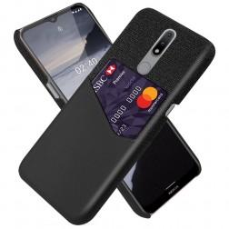 """""""KSQ"""" Shell dėklas su kišenėle - juodas (Nokia 2.4)"""