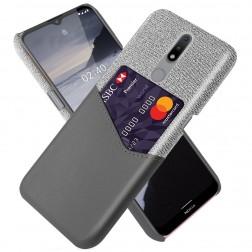 """""""KSQ"""" Shell dėklas su kišenėle - pilkas (Nokia 2.4)"""