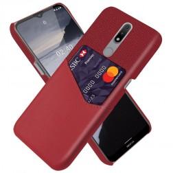 """""""KSQ"""" Shell dėklas su kišenėle - raudonas (Nokia 2.4)"""