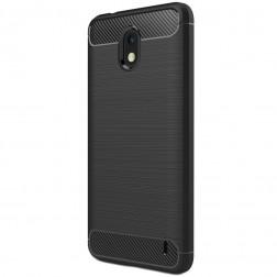 """""""Carbon"""" kieto silikono (TPU) dėklas - juodas (Nokia 2)"""