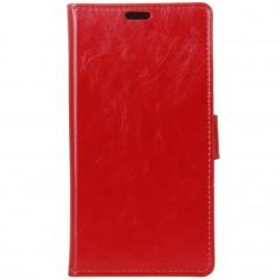 Atverčiamas dėklas, knygutė - raudonas (Nokia 3.1 Plus 2018)