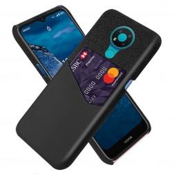 """""""KSQ"""" Shell dėklas su kišenėle - juodas (Nokia 3.4)"""
