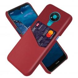 """""""KSQ"""" Shell dėklas su kišenėle - raudonas (Nokia 3.4)"""
