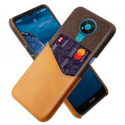 """""""KSQ"""" Shell dėklas su kišenėle - rudas (Nokia 3.4)"""