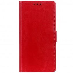 Atverčiamas dėklas, knygutė - raudonas (Nokia 3.4)