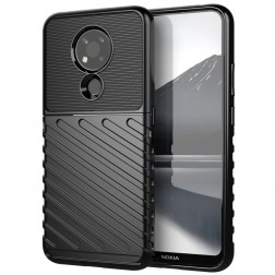 """""""Twill"""" kieto silikono (TPU) dėklas - juodas (Nokia 3.4)"""